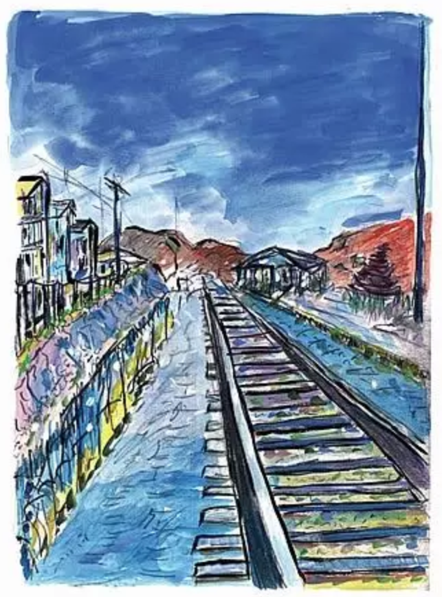 bob dylan paints america by @DFriedmanAuthor #Drawings #Artists #Writers